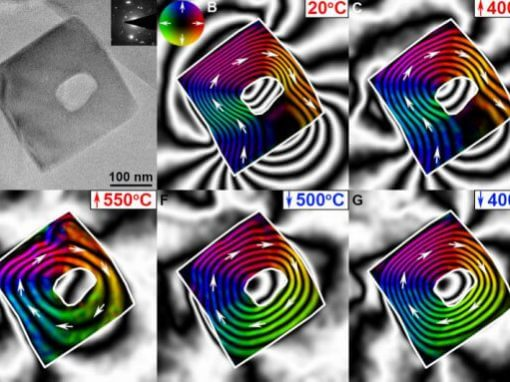 Observation of thermally-induced magnetic relaxation in a magnetite grain using off-axis electron holography