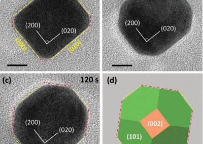 In situ TEM studies of the shape evolution of Pd nanocrystals under oxygen and hydrogen environments at atmospheric pressure