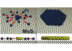Precursor Design for High Density Single Pt Atom Sites on MoS2: Enhanced Stability at Elevated Temperatures and Reduced 3D Clustering