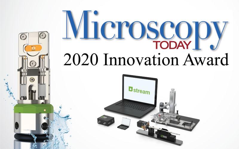 Stream LPEM system wins the Microscopy Today 2020 Innovation award