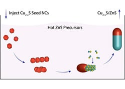 Seeded Growth Combined with Cation Exchange for the Synthesis of Anisotropic Cu2–xS/ZnS, Cu2–xS, and CuInS2 Nanorods
