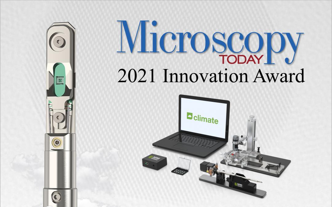 DENSsolutions' Climate system takes home the Microscopy Today 2021 Innovation Award
